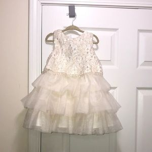 Toddler cream colored dress